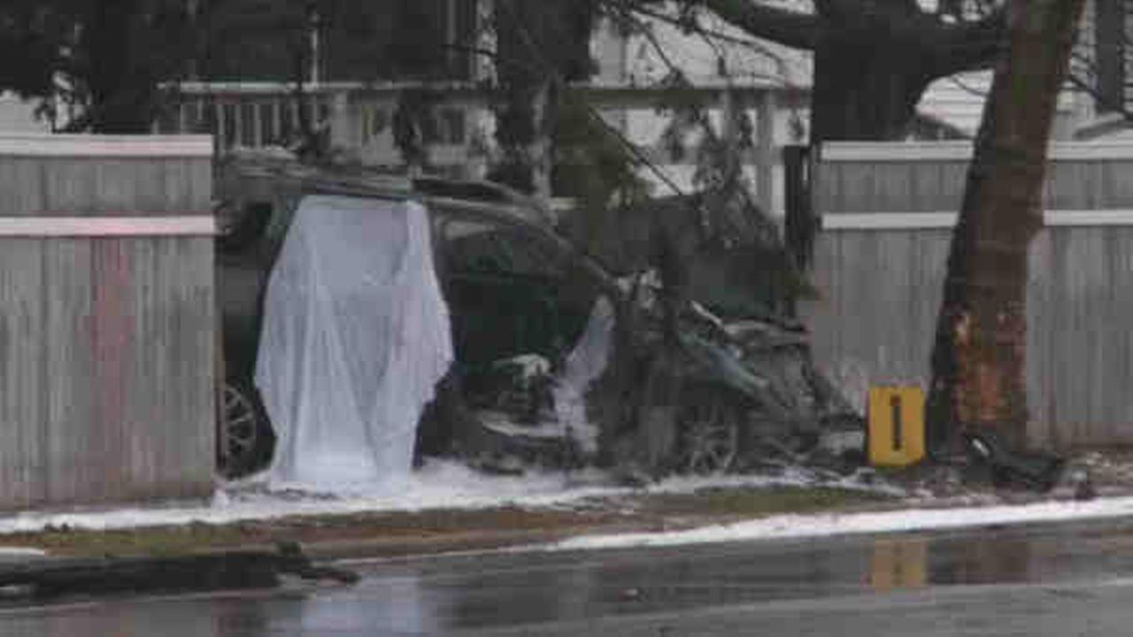 Two people were killed in a single car wreck Christmas Eve morning on Woodbury Road.