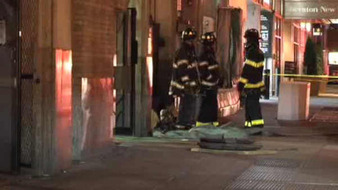 The FDNY responded to the scene of an underground gas line fire.