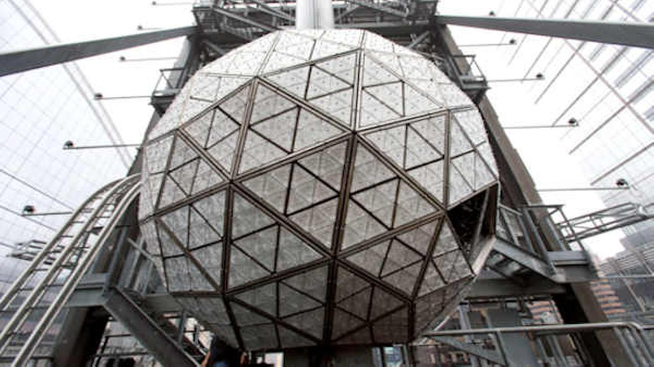 The Waterford crystal ball from last years celebration is shown atop One Times Square Dec. 27 2015