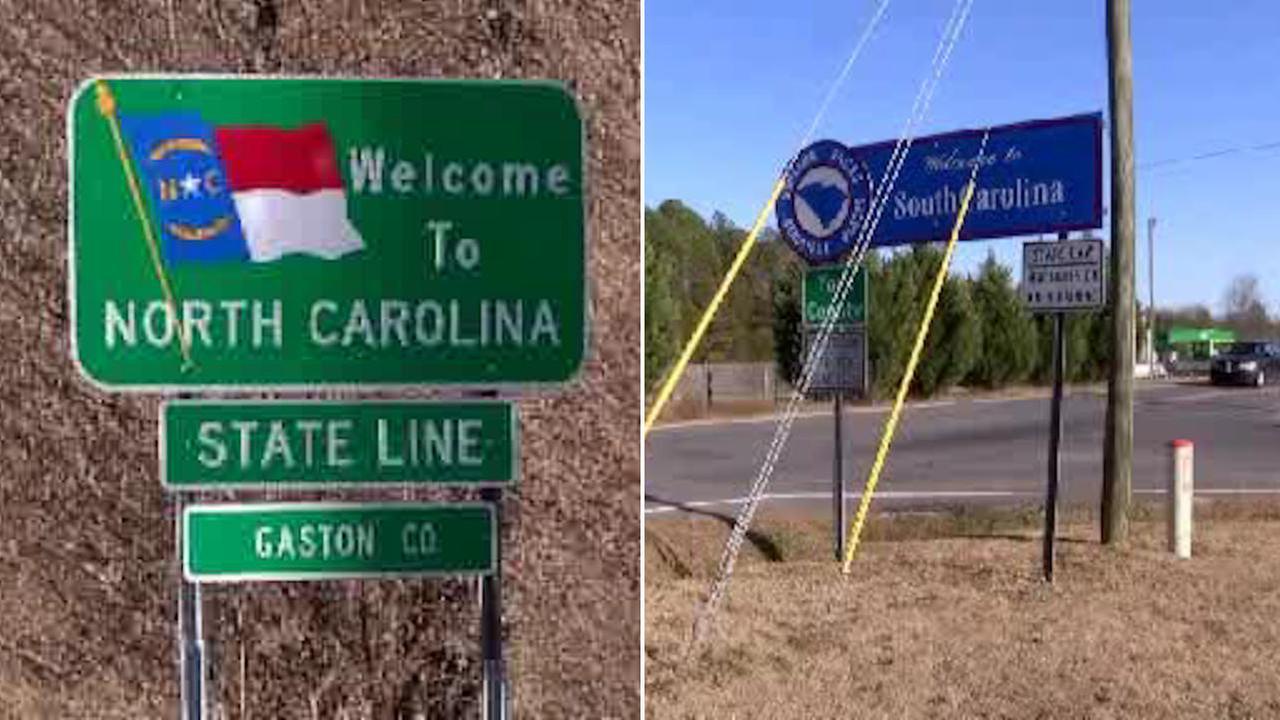 Border of North Carolina and South Carolina realigned on January 1st