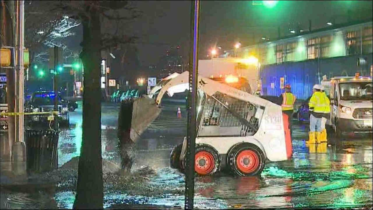 The cause of a water main break Wednesday morning in Hoboken is under investigation.