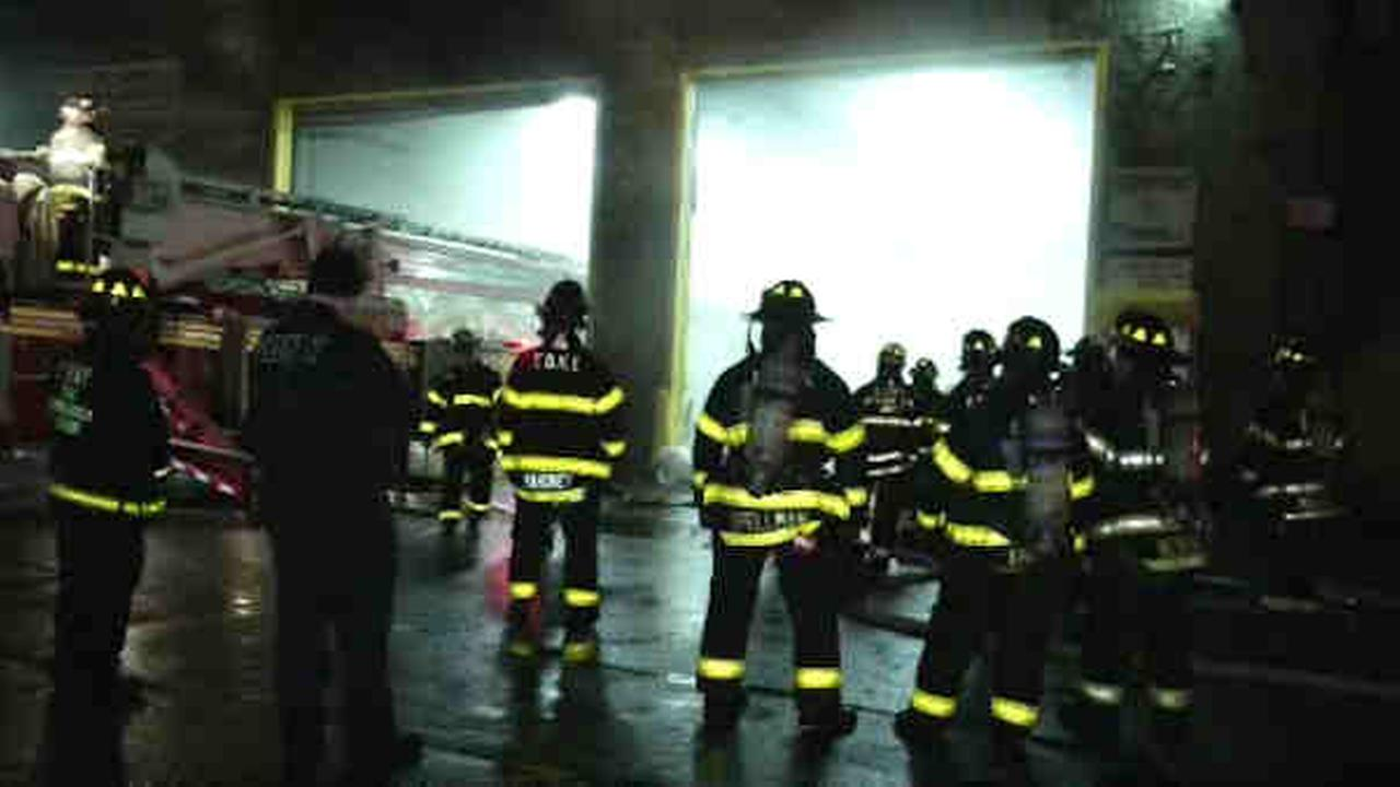 A recycling plant burned in a fire in the Mott Haven section of the Bronx.