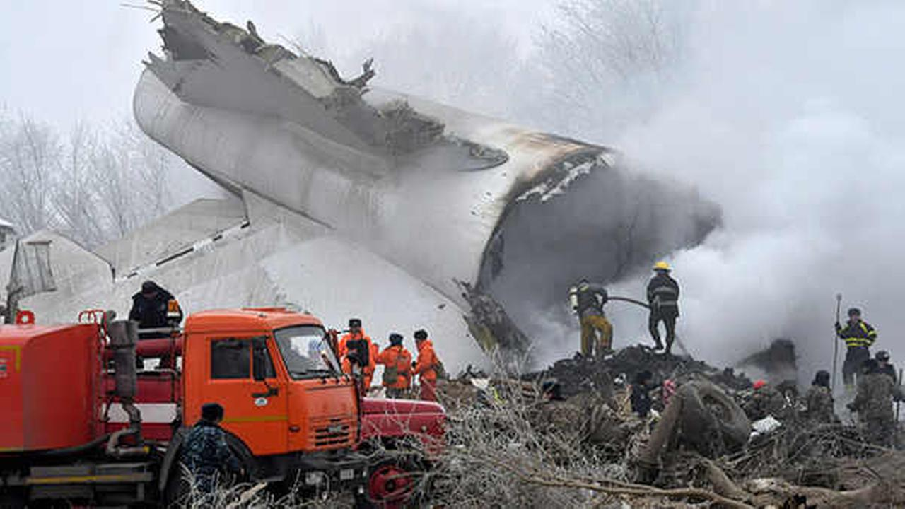 Cargo plane crashes in residential area of Kyrgyzstan, killing 37