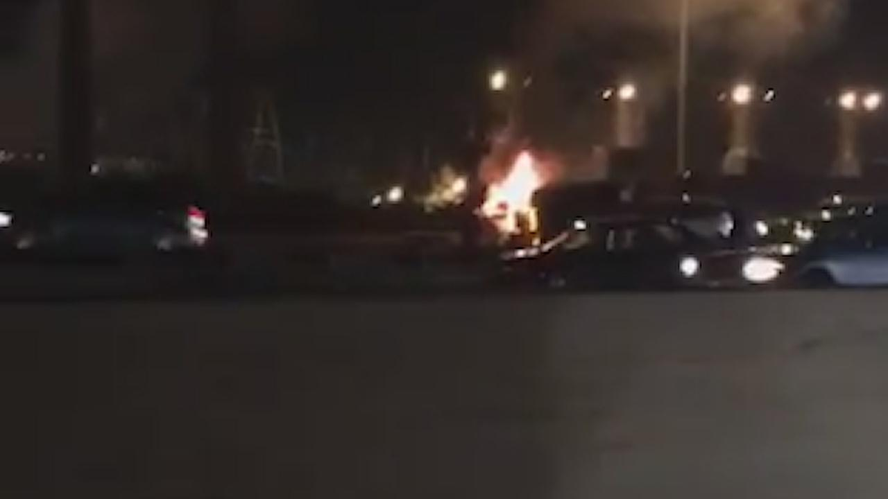 Tractor-trailer overturns, driver killed in fiery crash in Linden on NJ Turnpike