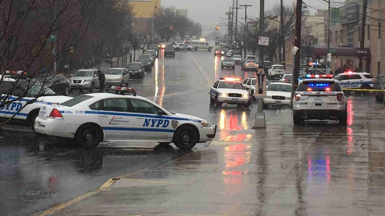 The vehicle crashed at Bronx Boulevard and East 234th Street Tuesday morning, police said.