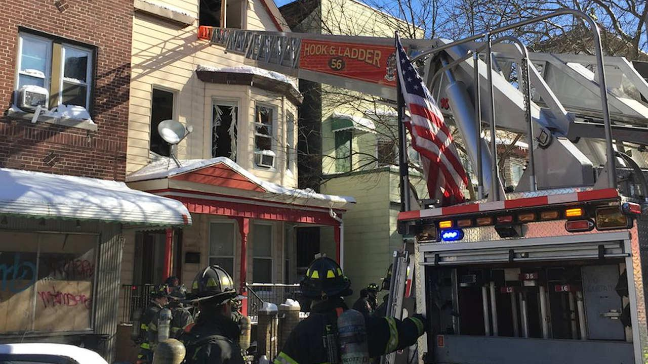 2 injured, 1 seriously in Bronx house fire