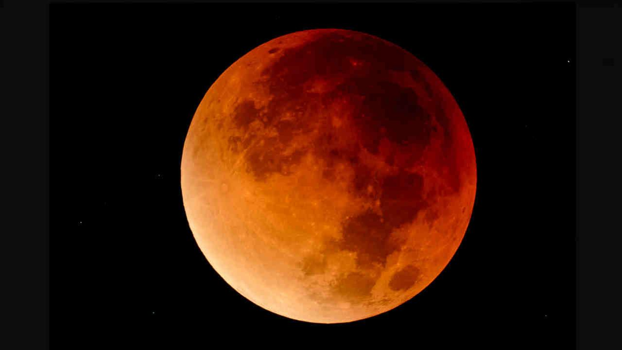 The supermoon during a lunar eclipse in 2015