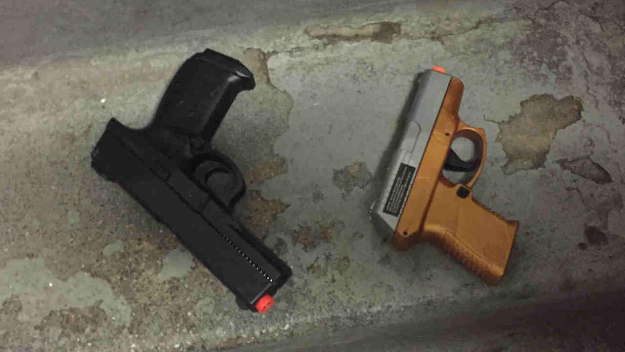 Two of three men had imitation guns with them during a police-involved shooting.