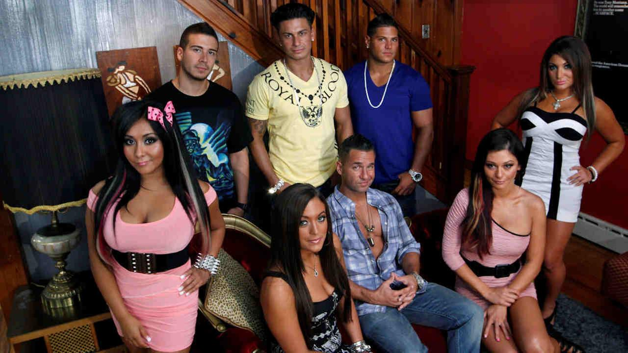 The cast members of MTVs Jersey Shore are pictured at their television home in Seaside Heights, N.J., in 2011.