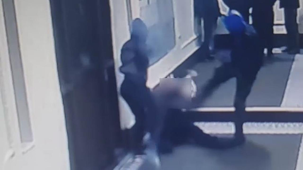The police are looking for a man and a woman who violently beat a delivery man in the Bronx.