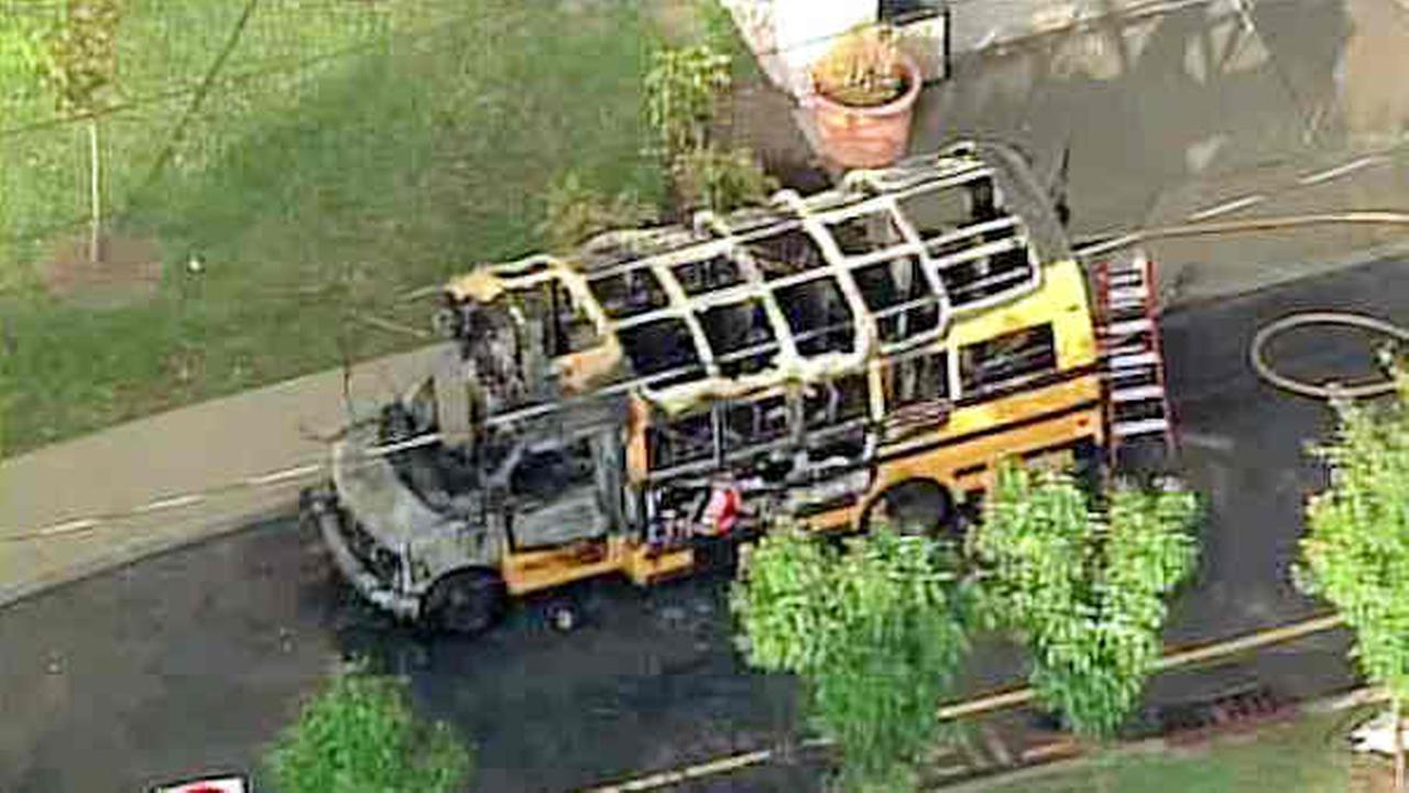 englewood new jersey mini school bus fire