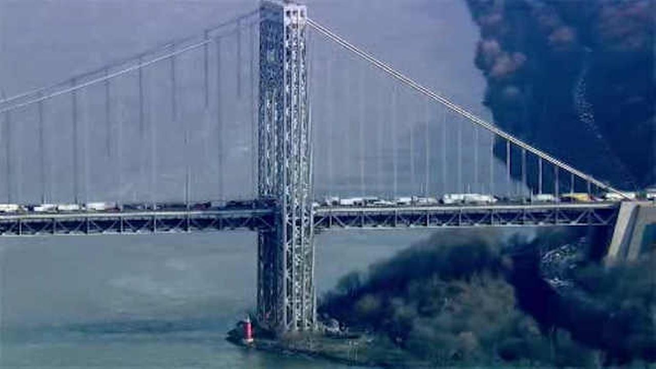 NewsCopter 7 was over the scene of the accident on the GWB.