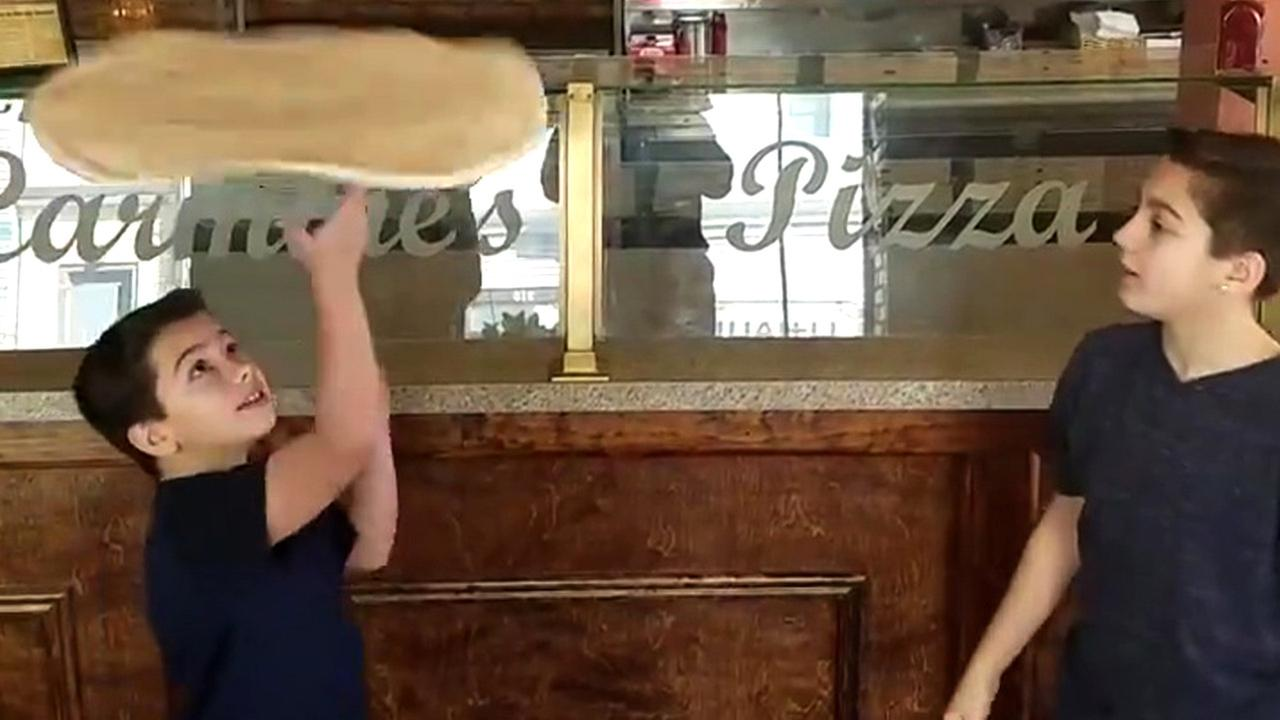 Brothers' impressive pizza dough spinning video goes viral