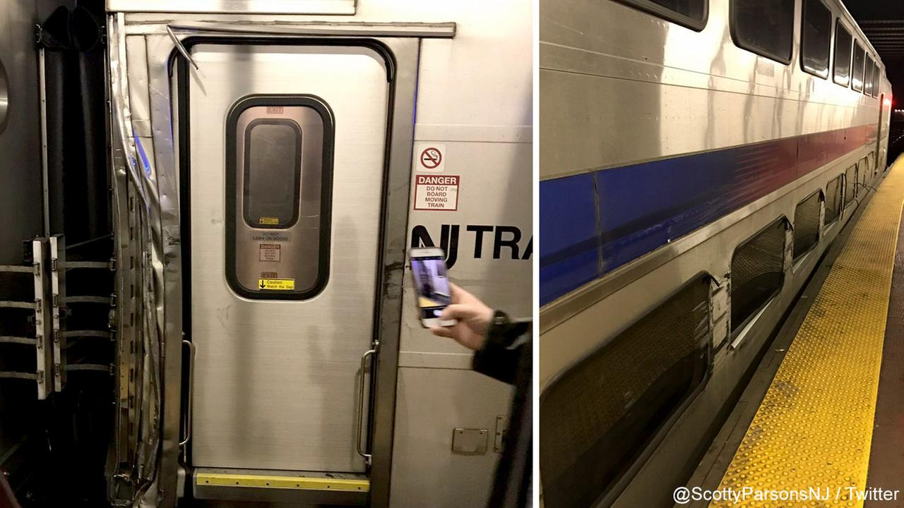 NJ TRANSIT Train Struck When Amtrak Train Derails At Penn Station