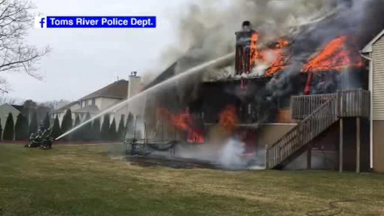 Fire engulfs home in Toms River