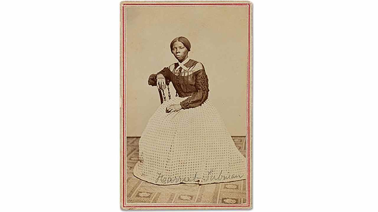 This undated file photo provided by Swan Auction Galleries shows a photograph of 19th century abolitionist Harriet Tubman. Swann Galleries is offering it for sale in New York.