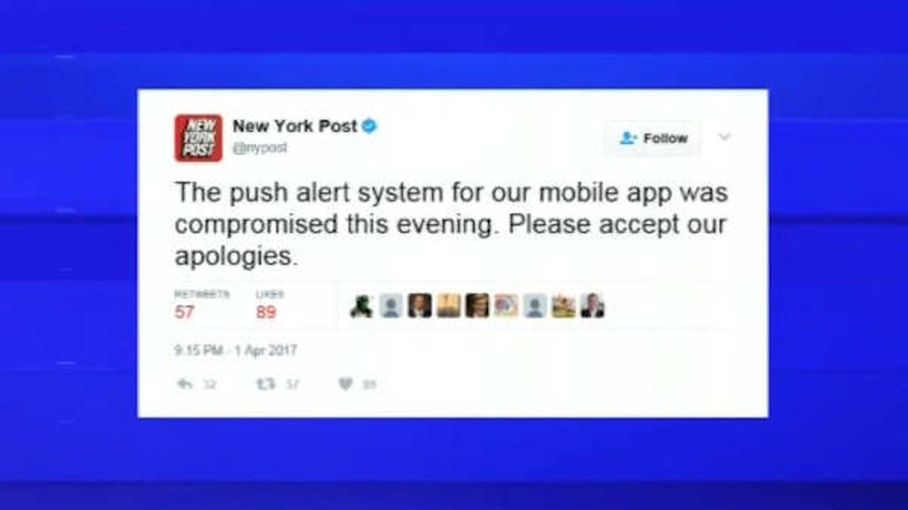 New York Post apologizes after hacked app sends out 'Heil President' alert