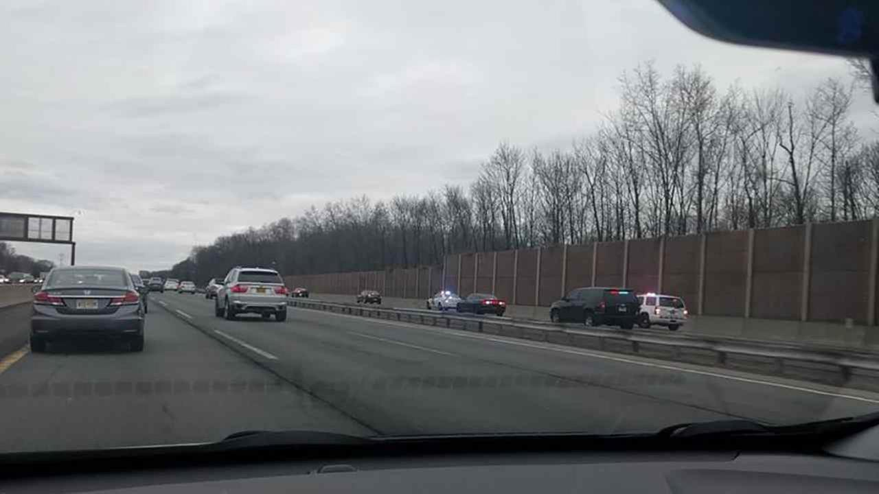 Car chase on New Jersey Turnpike after attempted traffic stop