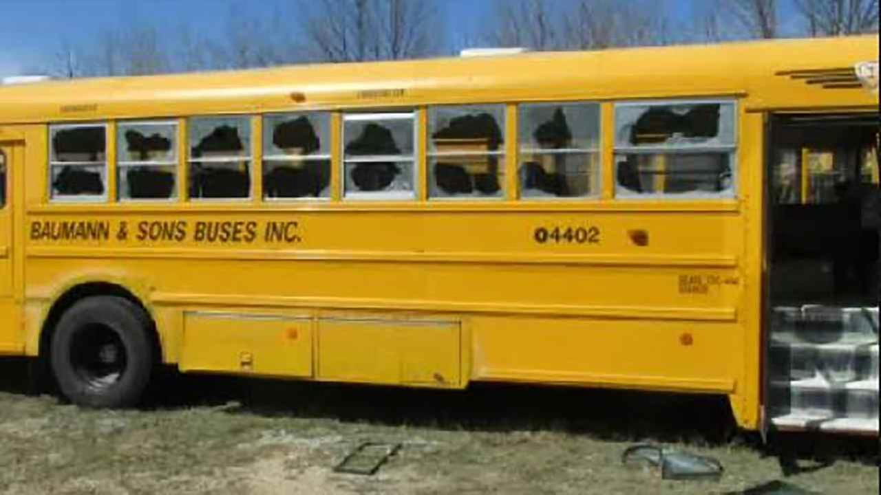 Thirty buses were vandalized on Long Island.