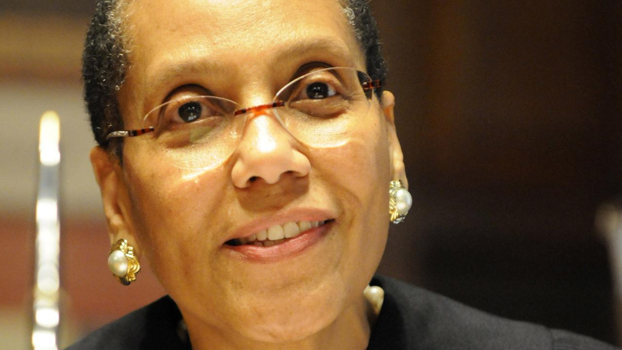 Court of Appeals judge Sheila Abdus-Salaam during her swearing-in ceremony at the New York Court of Appeals in Albany, N.Y., Thursday, June 20, 2013.