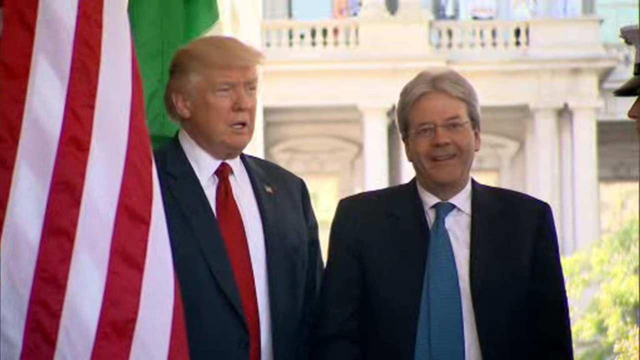 President Trump hails Italy for role in Libya, Iraq, Afghanistan