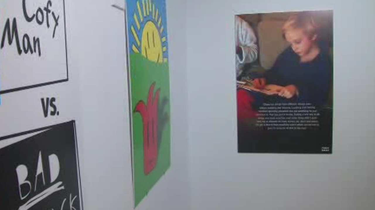 Art exhibit in honor of child battling brain tumor in NJ
