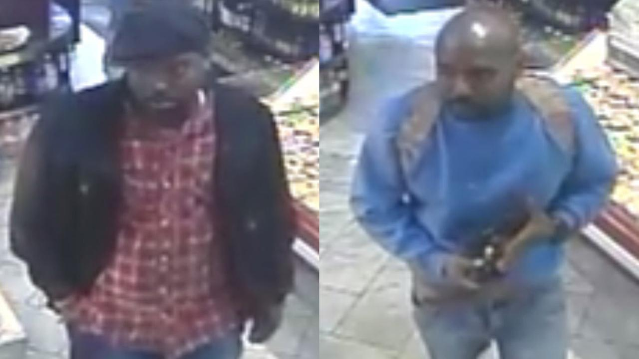 Police are looking for two men in a shooting near Battery Park.