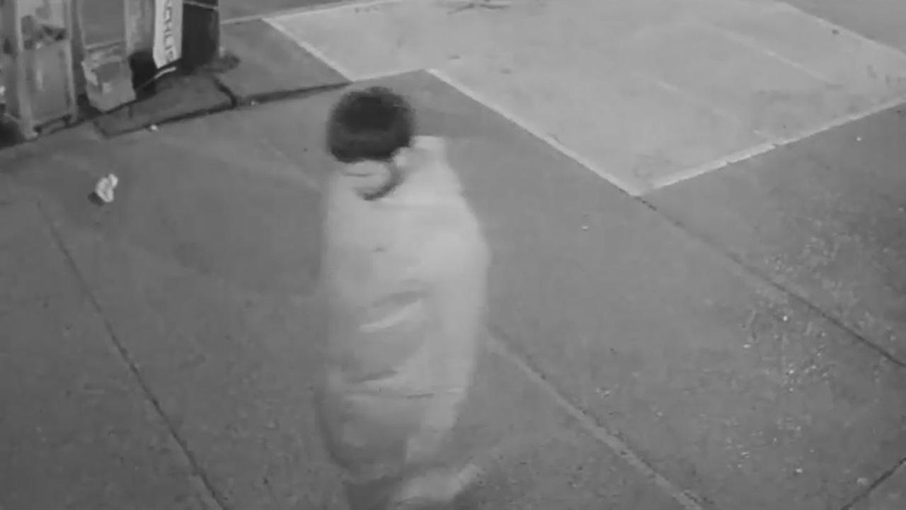 A man is wanted after a religious-school bus was set on fire in Brooklyn.