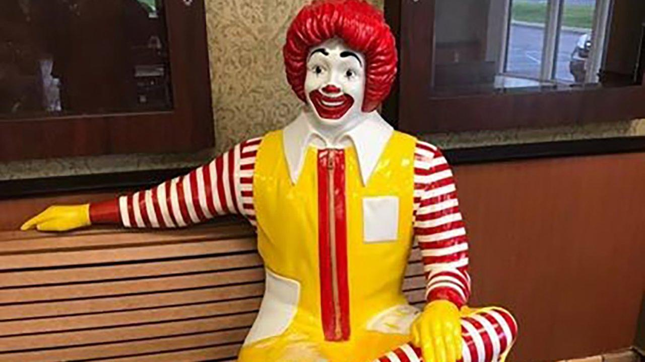 A statue of Ronald McDonald was taken from a McDonalds of Hunterdon County.