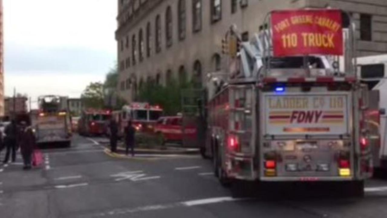 Courthouse in Downtown Brooklyn catches fire.