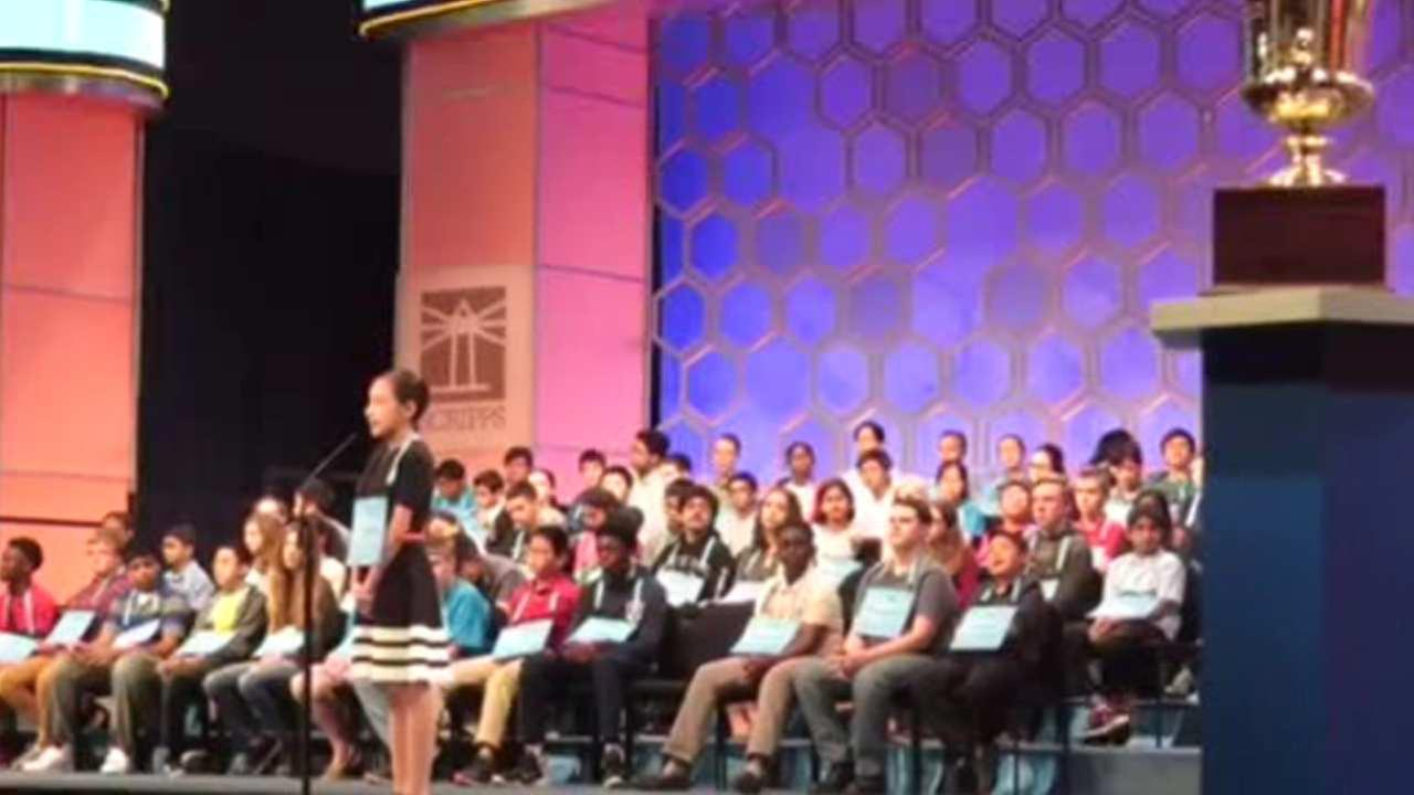 NJ girl eliminated in third round of Scripps National Spelling Bee