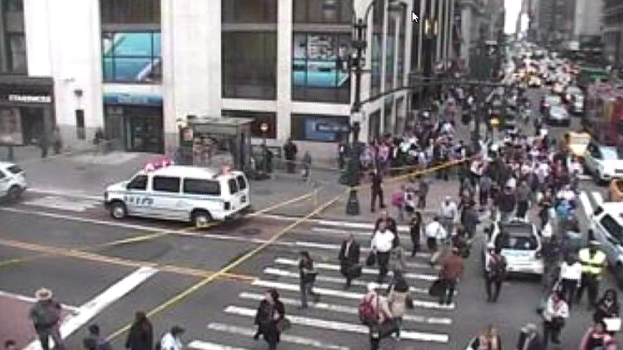 Suspicious package cleared near Penn Station
