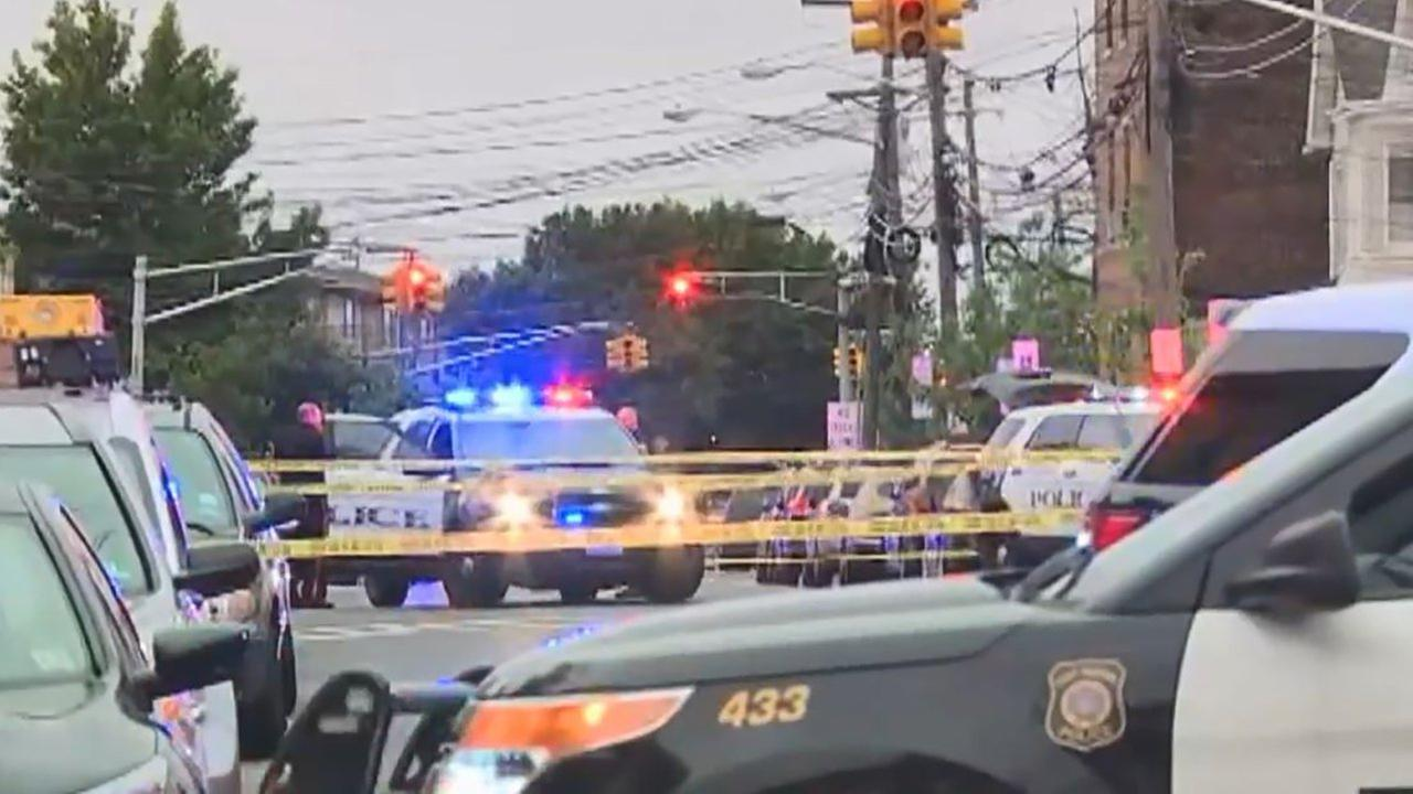 A Harrison, N.J., police officer was hit and injured Tuesday morning.