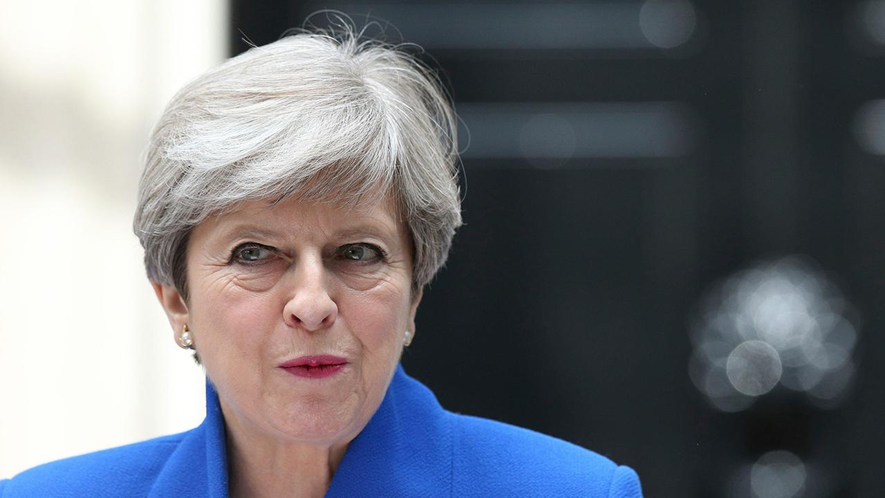Britains Prime Minister Theresa May speaks outside 10 Downing Street in London, on, Friday, June 9, 2017.