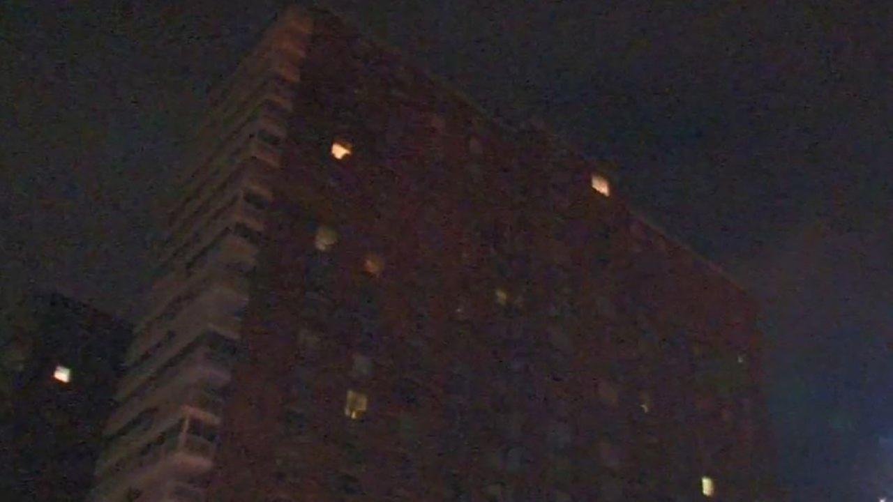 An elderly woman was killed in a Harlem fire.