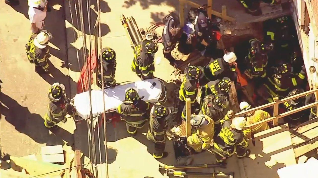 3rd worker rescued after New York City construction accident