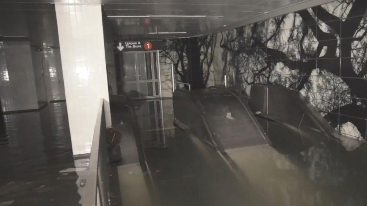 The South Ferry subway station was flooded after Superstorm Sandy.