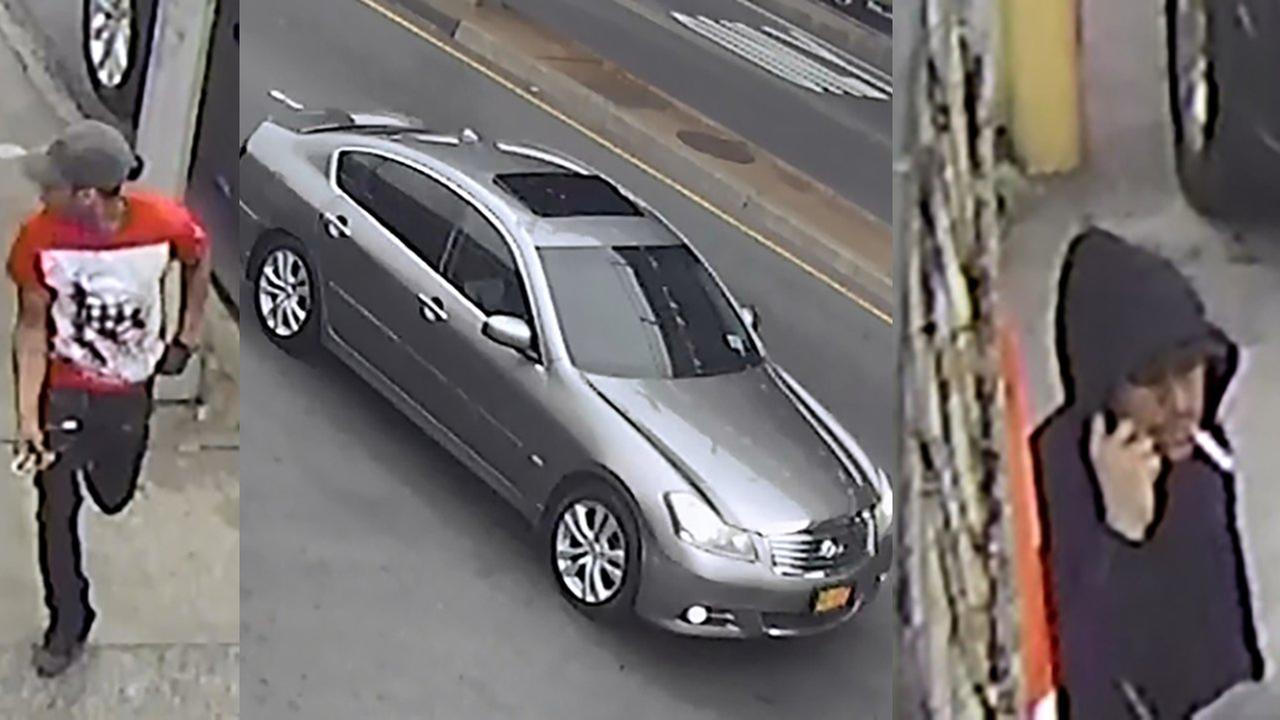 Police are looking for two men in connection with a Crown Heights shooting.