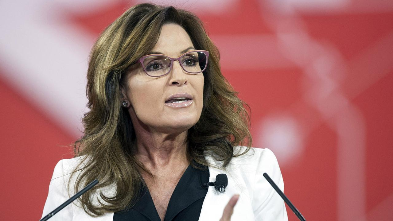 In this Feb. 26, 2015 file photo, former Alaska Gov. Sarah Palin speaks during the Conservative Political Action Conference (CPAC) in National Harbor, Md.
