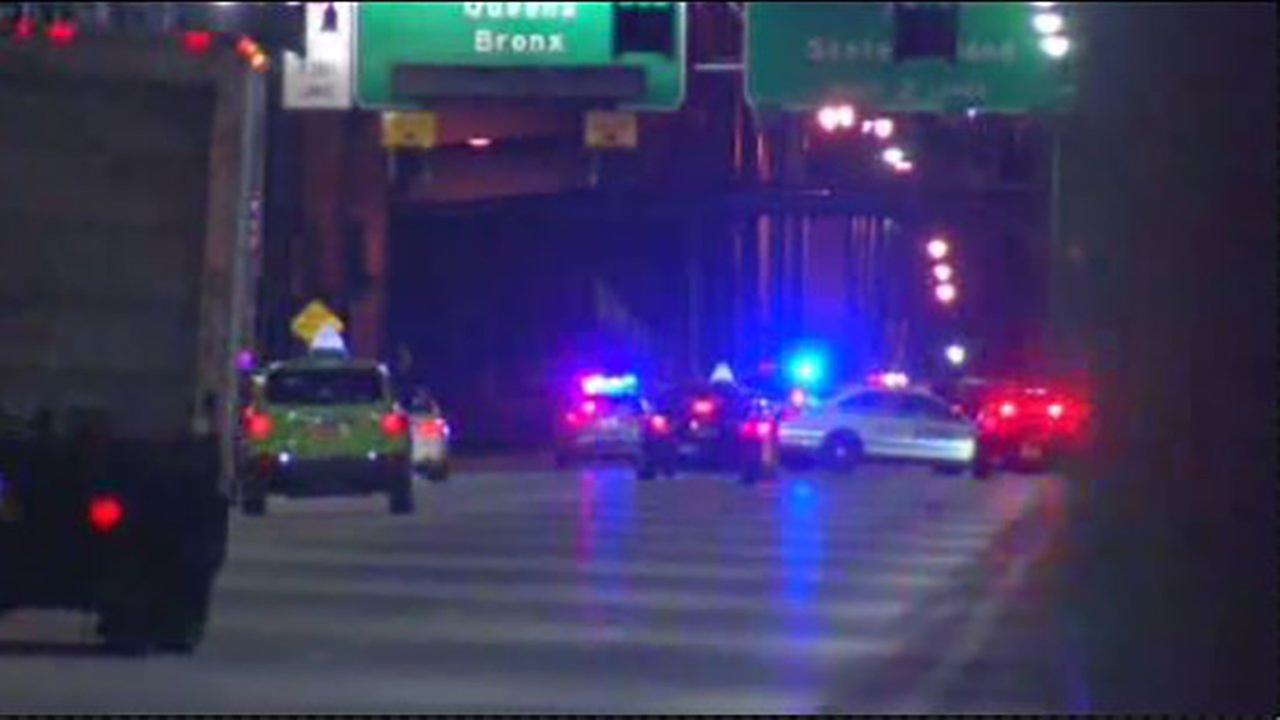 A 24-year-old motorcyclist was killed when he was eastbound on the Williamsburg Bridge just after 3:45 a.m.