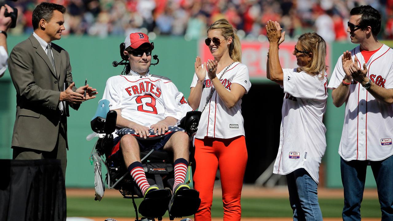 Pete Frates is a former Boston College baseball player stricken with ALS whose Ice Bucket Challenge has raised millions for ALS research.