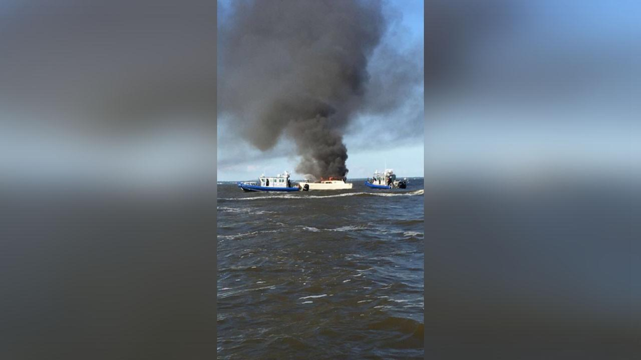 70-year-old man rescues couple, two dogs from boat fire