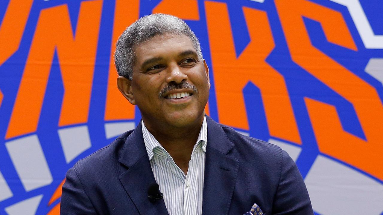 FILE - New York Knicks president Steve Mills