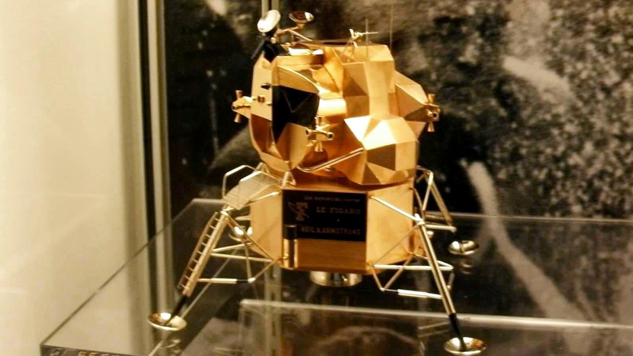 This image provided by Armstrong Air and Space Museum shows a lunar module replica at Armstrong Air and Space Museum.