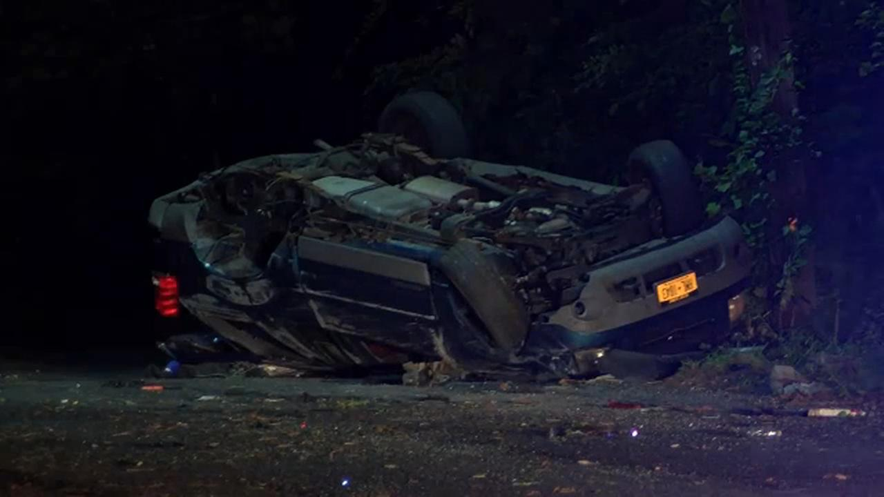Police: Man flees from officers in stolen car, crashes on Long Island