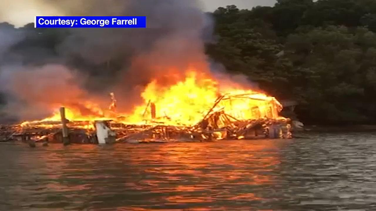 Fire breaks out at abandoned boat club in Westchester