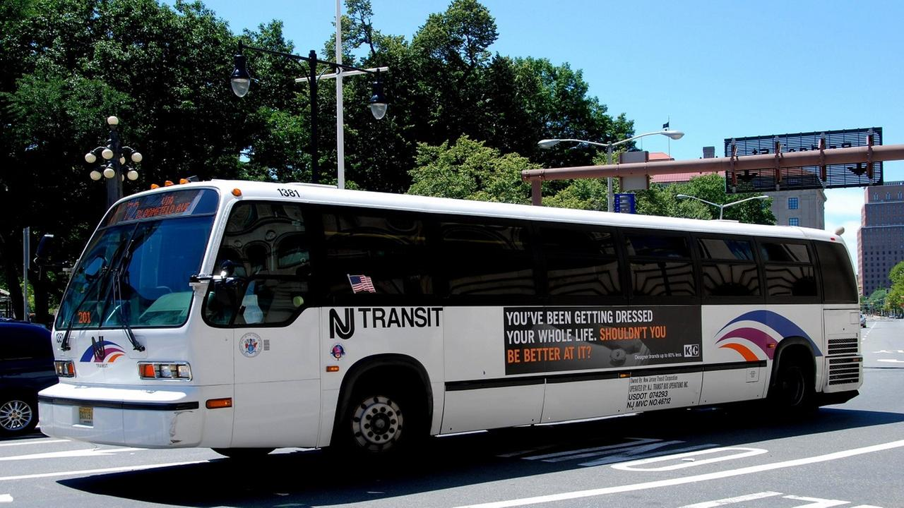 Woman on cellphone walks into NJ Transit bus, gets pinned