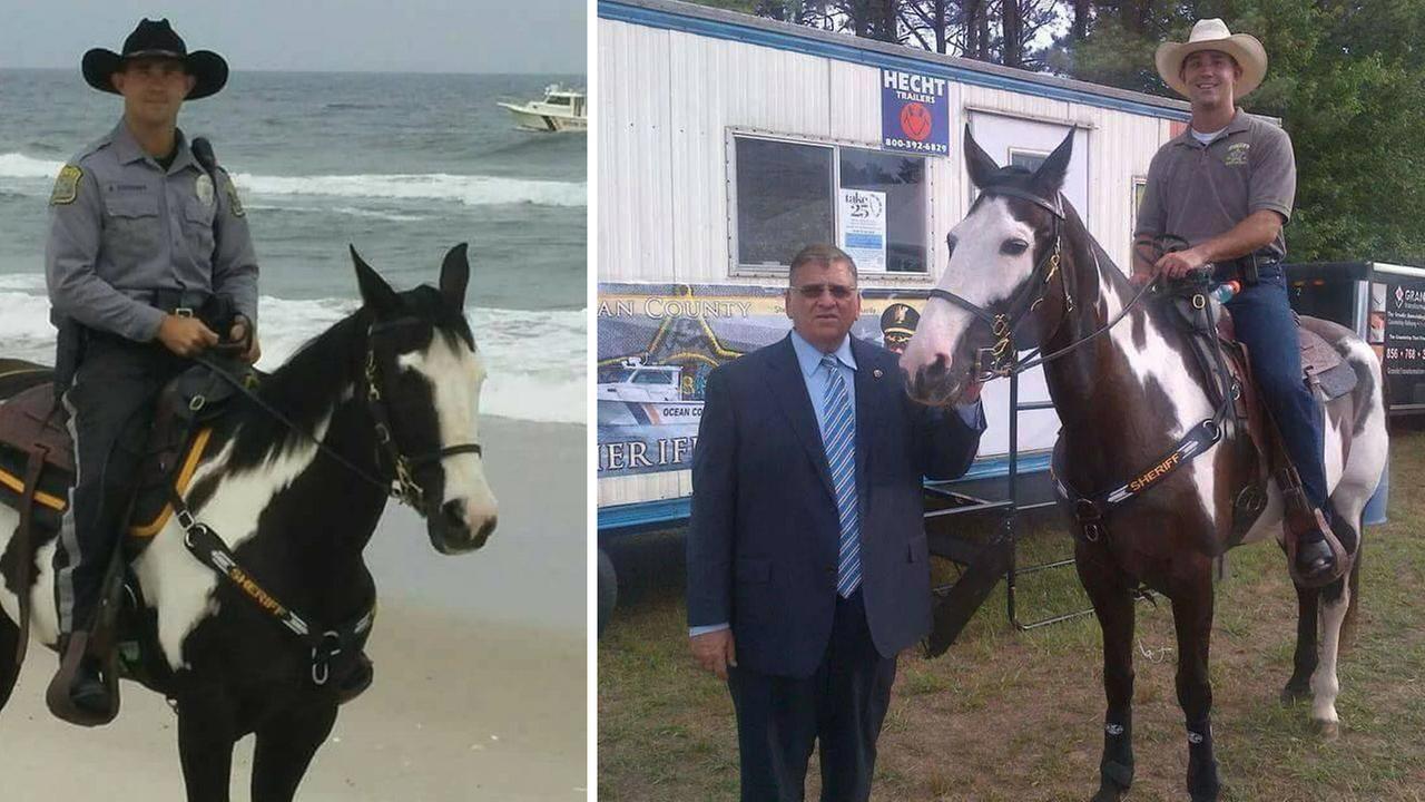 Horse used by Ocean County sheriff dies
