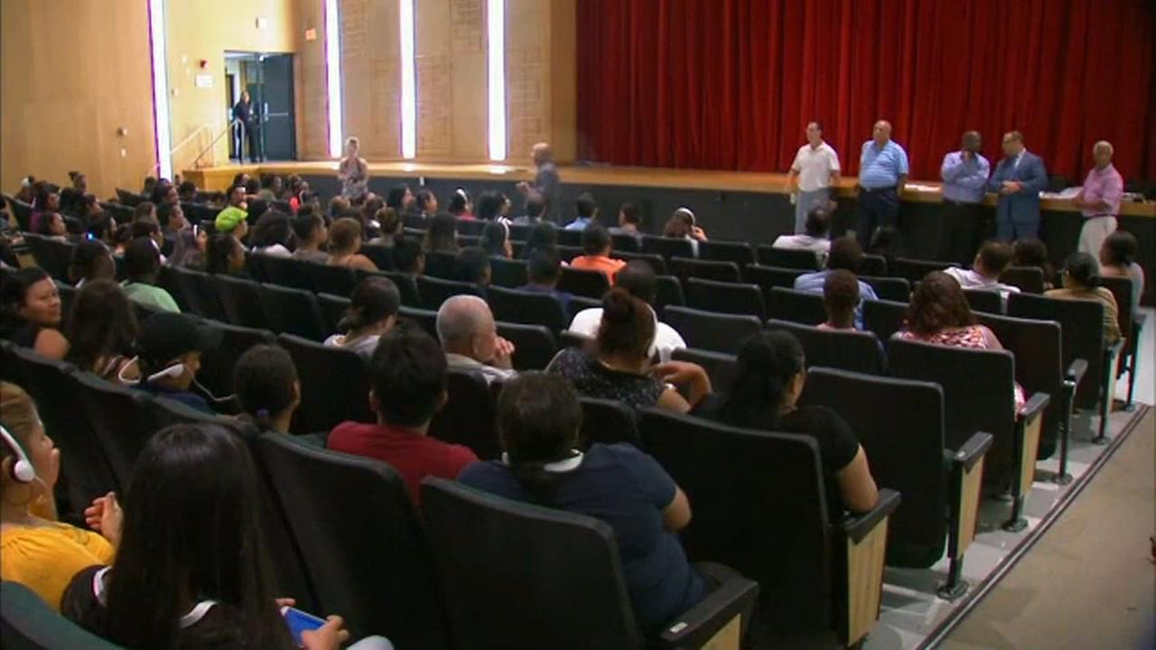 School officials announce solution to overcrowding at Westbury High School at emergency meeting