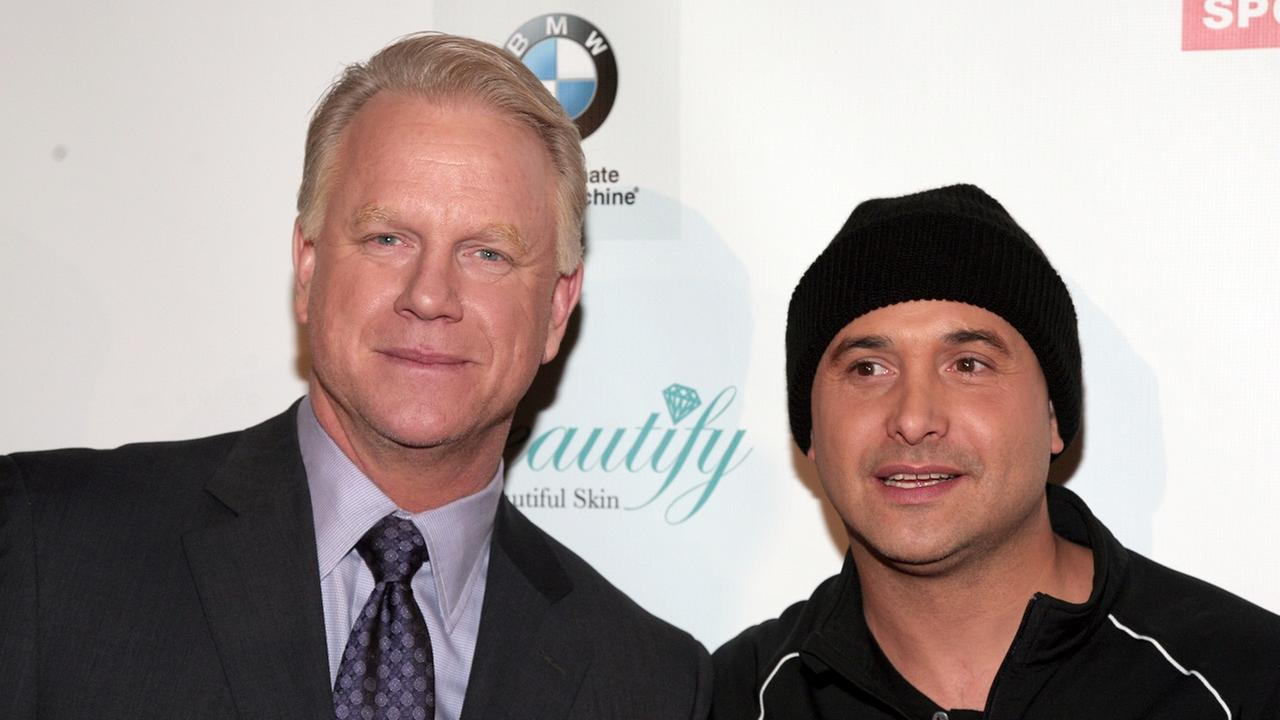 Television commentator and former professional football player Boomer Esiason, left, and radio host Craig Carton, right, attend the Friars Club Roast Honoring Boomer Esiason.